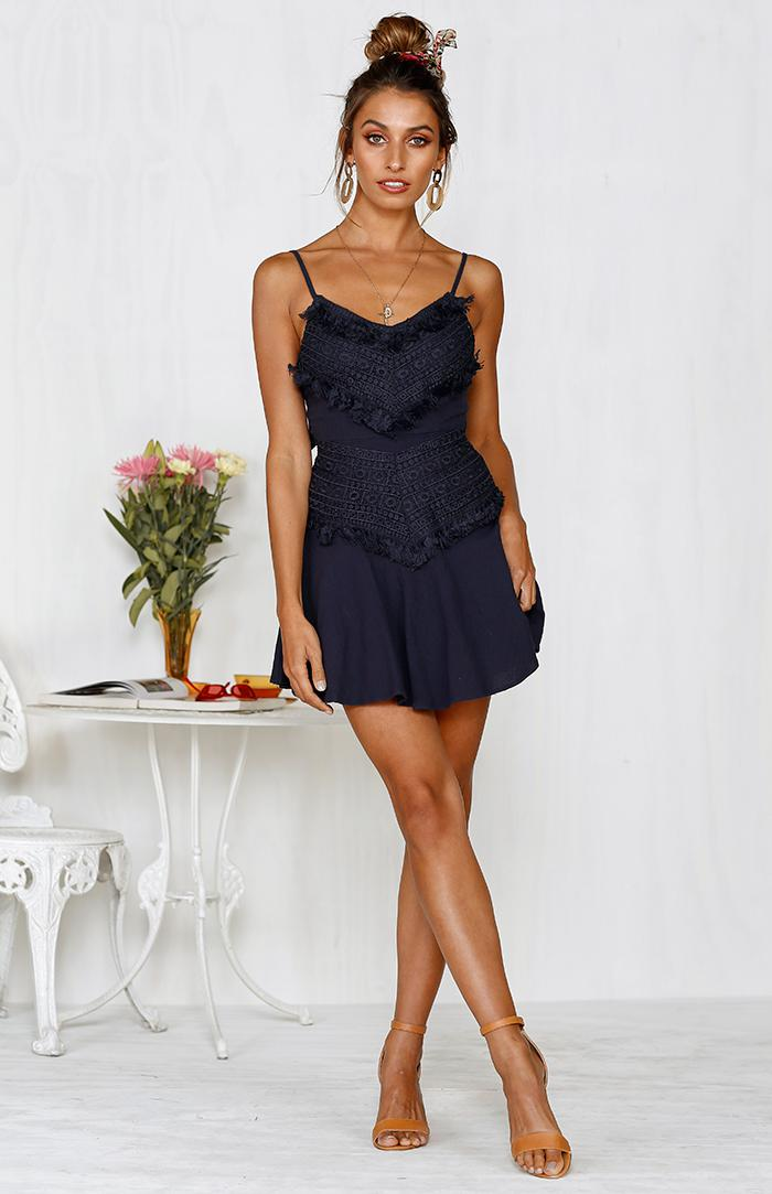PRIYA DRESS - NAVY