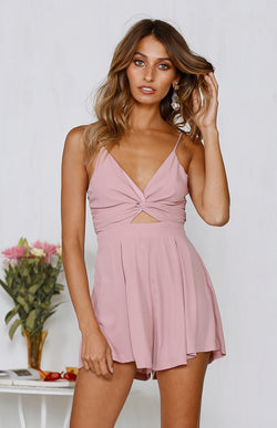 ALBERTA PLAYSUIT - BLUSH