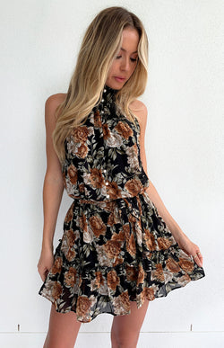 ZAHARA DRESS - BLACK PRINT