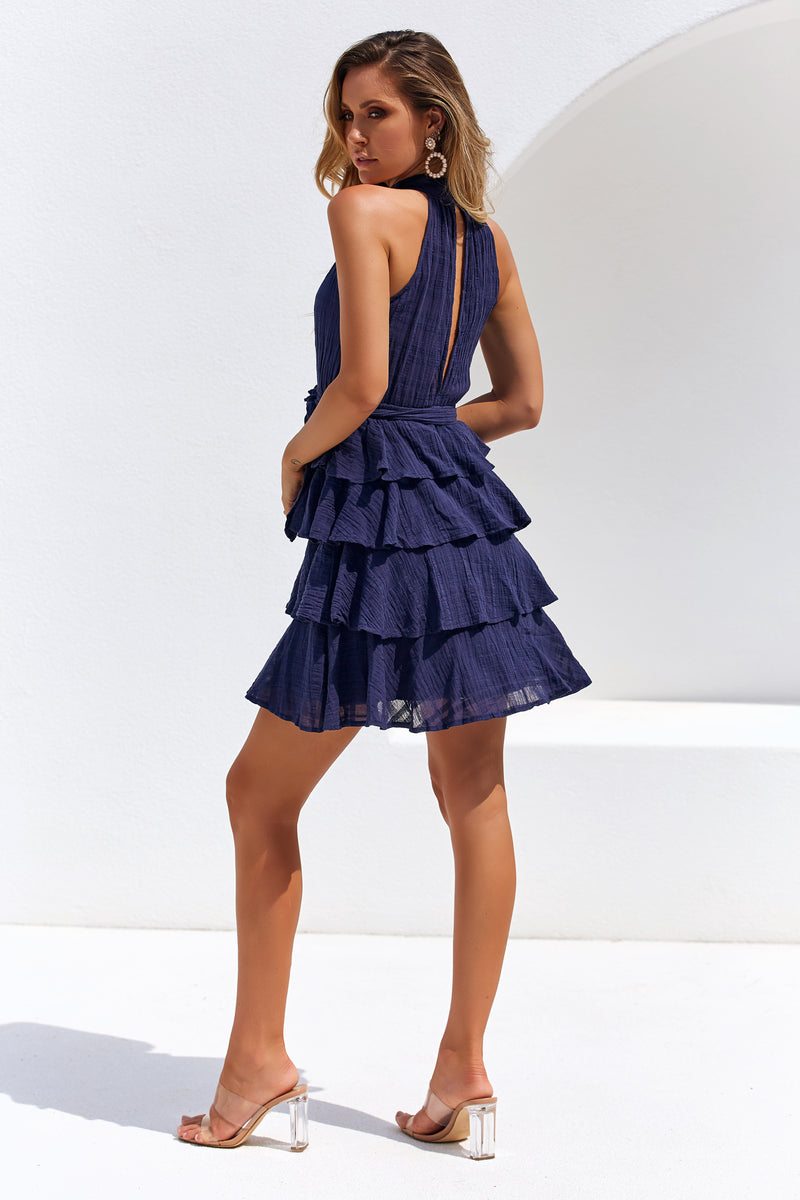 FORTUNE DRESS - NAVY
