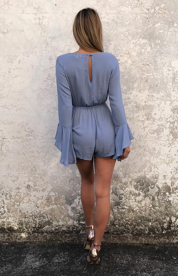 FOXTROT PLAYSUIT - BLUE