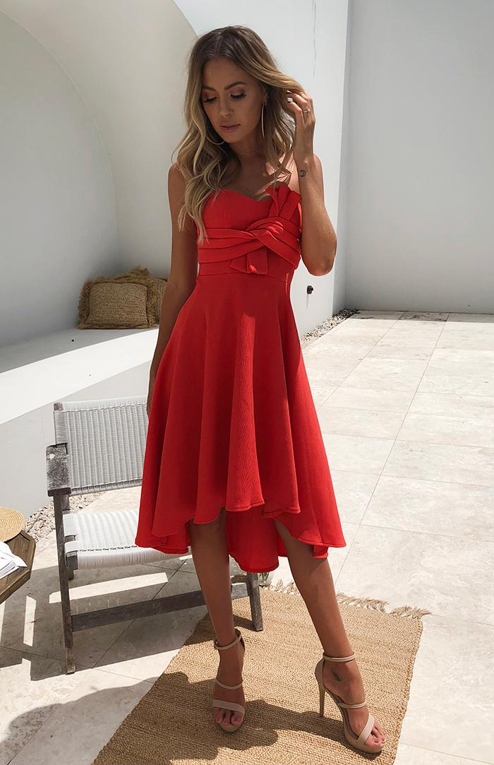 RUBY DRESS - TANGERINE