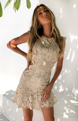 MAZIE DRESS - NUDE