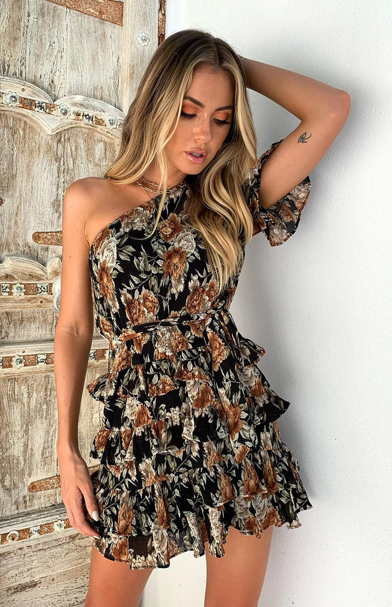 PHILLY DRESS - BLACK PRINT
