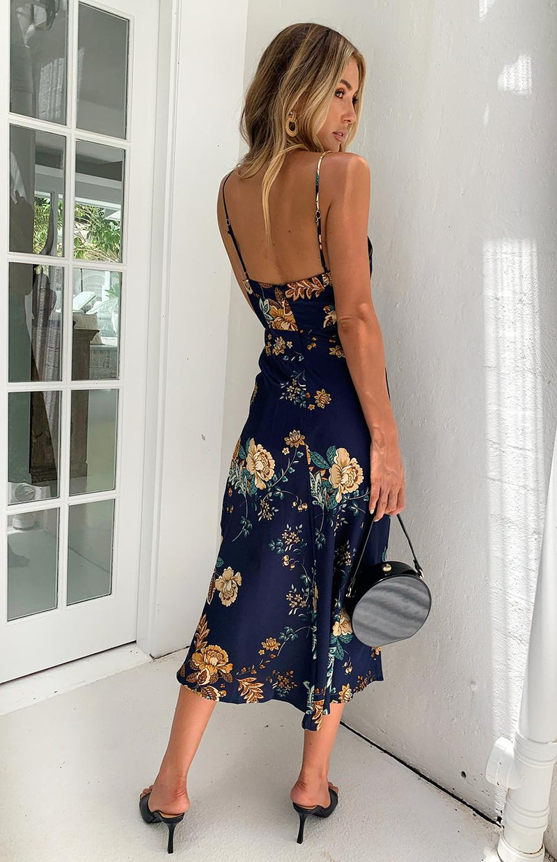 ELSA DRESS - NAVY PRINT (PREORDER)