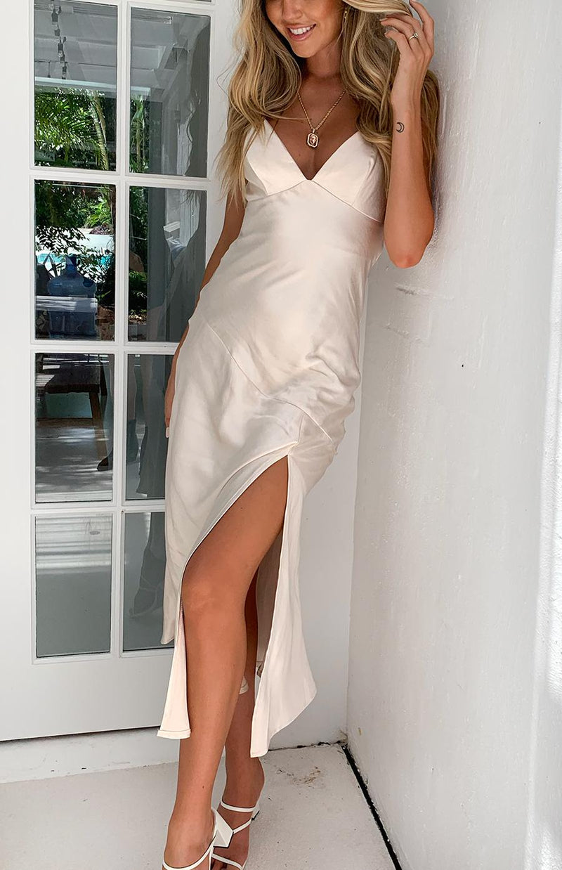 ARGAN DRESS - CHAMPAGNE
