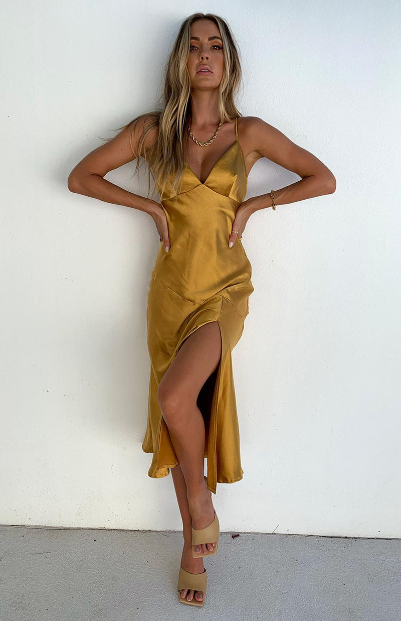 ARGAN DRESS - MUSTARD