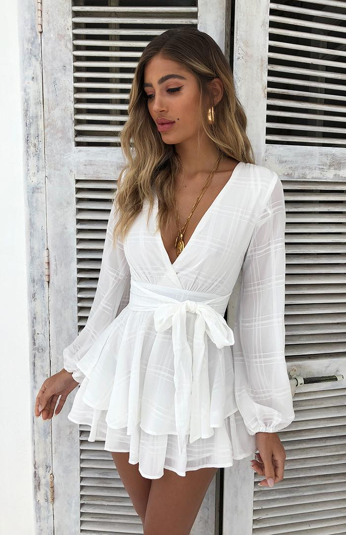 MOSES PLAYSUIT - WHITE