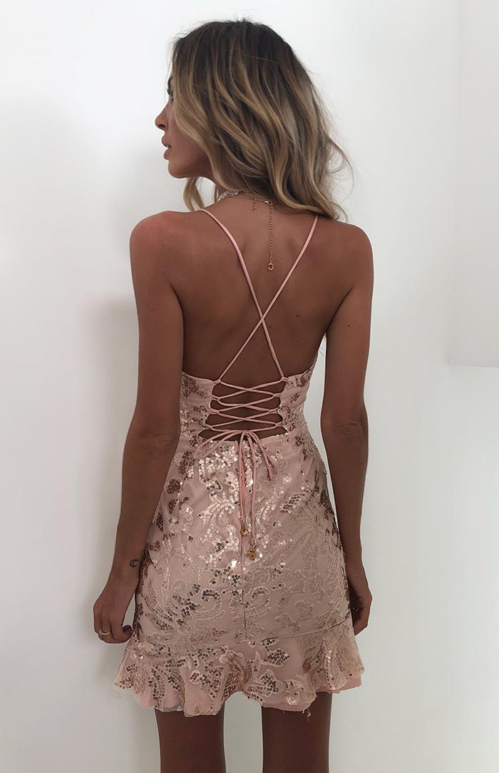 SHEPPARD DRESS - ROSE GOLD