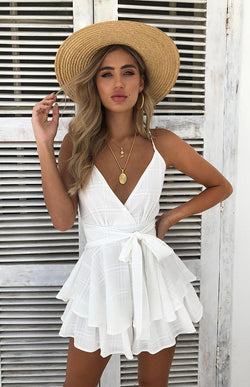 MASON PLAYSUIT - WHITE