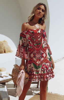 DAHLIA OFF SHOULDER DRESS