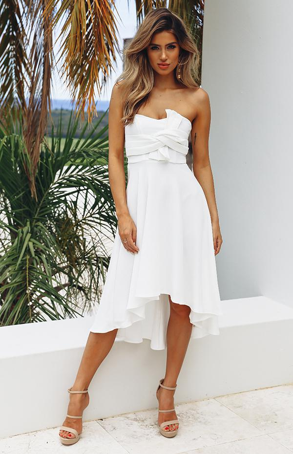 RUBY DRESS - WHITE