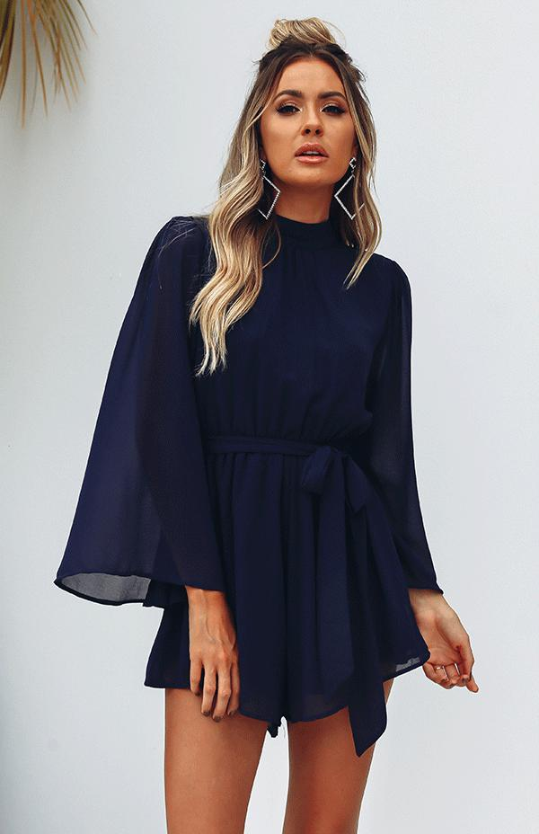 ASHA PLAYSUIT - NAVY