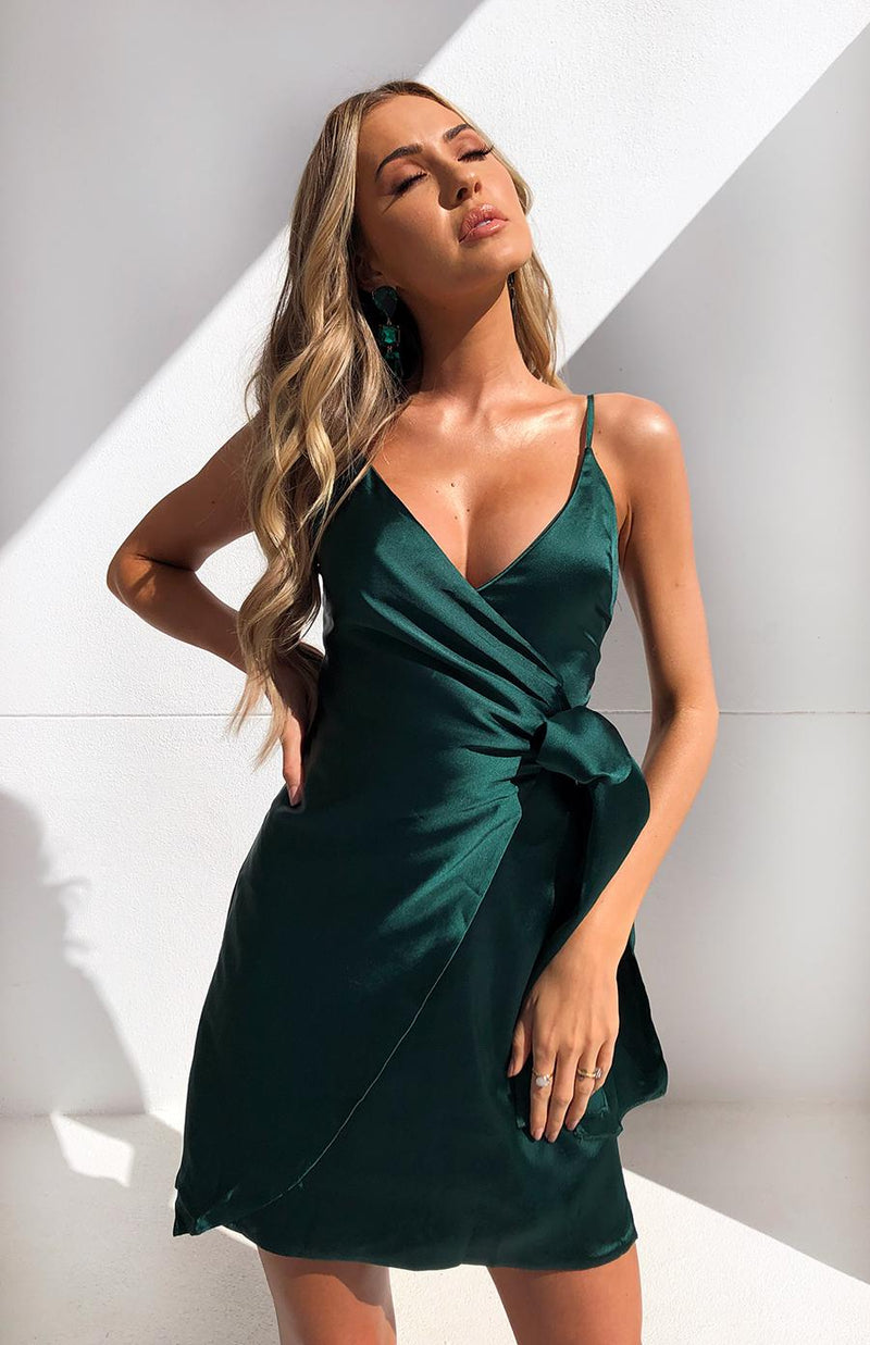 TOWERS DRESS - FOREST GREEN