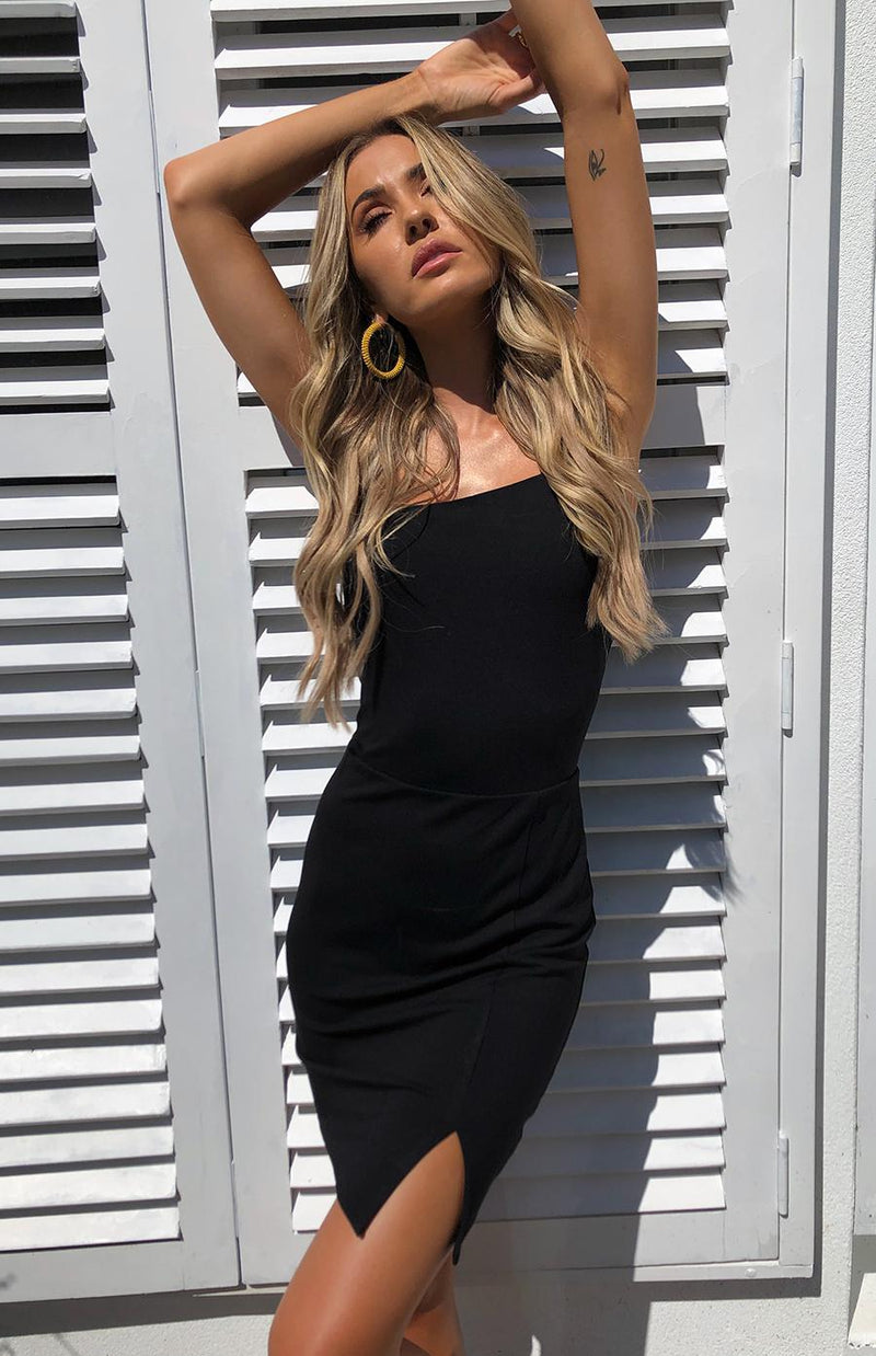 GRAVITY DRESS - BLACK