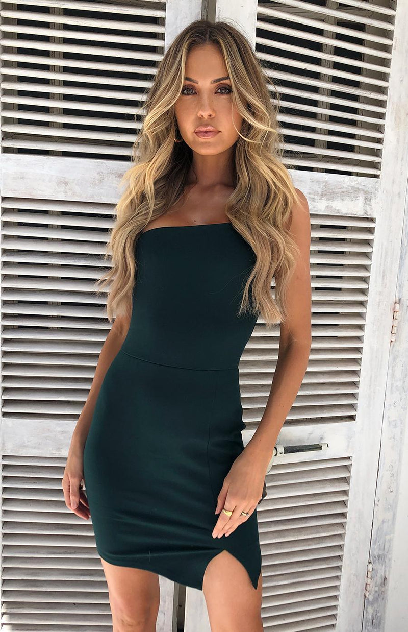 GRAVITY DRESS - EMERALD
