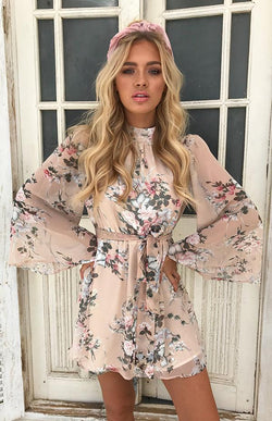 ABIGAIL DRESS - NUDE PRINT