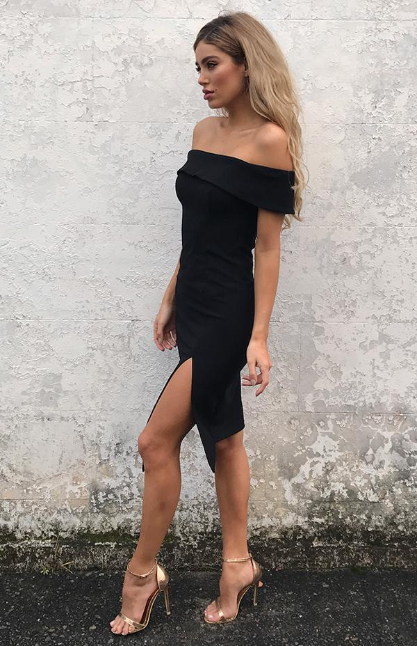 BLOSSOM DRESS - BLACK