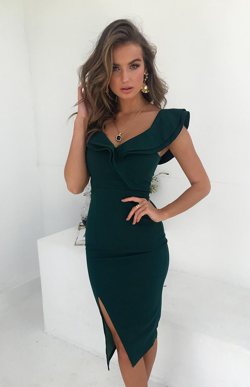 KENDRA DRESS - EMERALD
