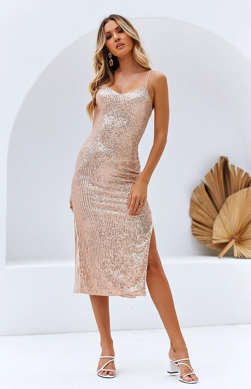 LINTEL DRESS - GOLD SEQUIN