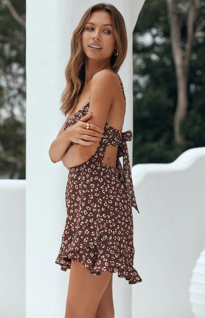 BLAIRE DRESS - CHOCOLATE PRINT