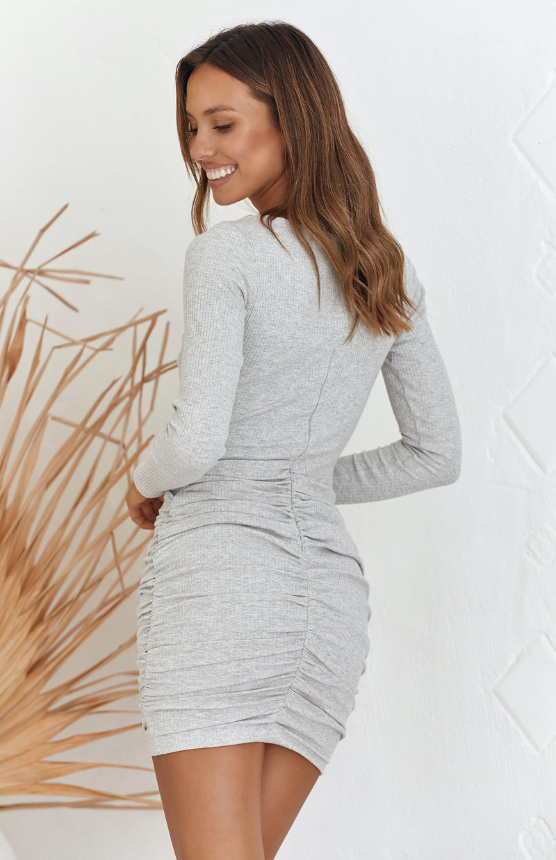 DALLAS DRESS - GREY