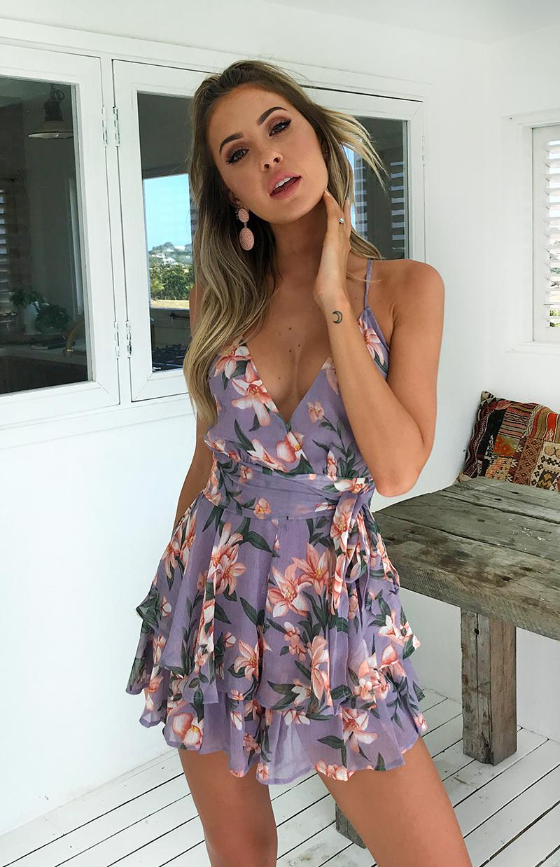 MASON PLAYSUIT - PURPLE FLORAL