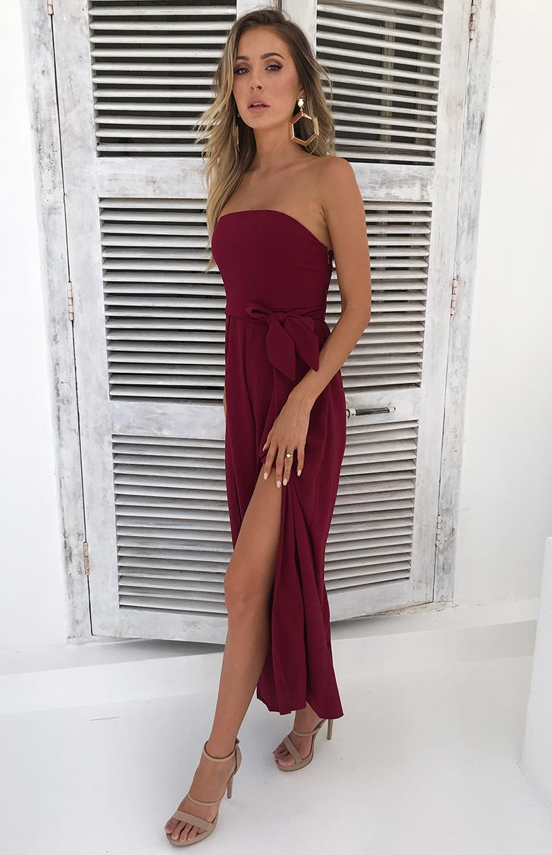 AURORA JUMPSUIT - WINE