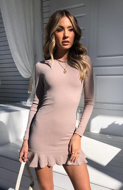 ULLA DRESS - TAUPE