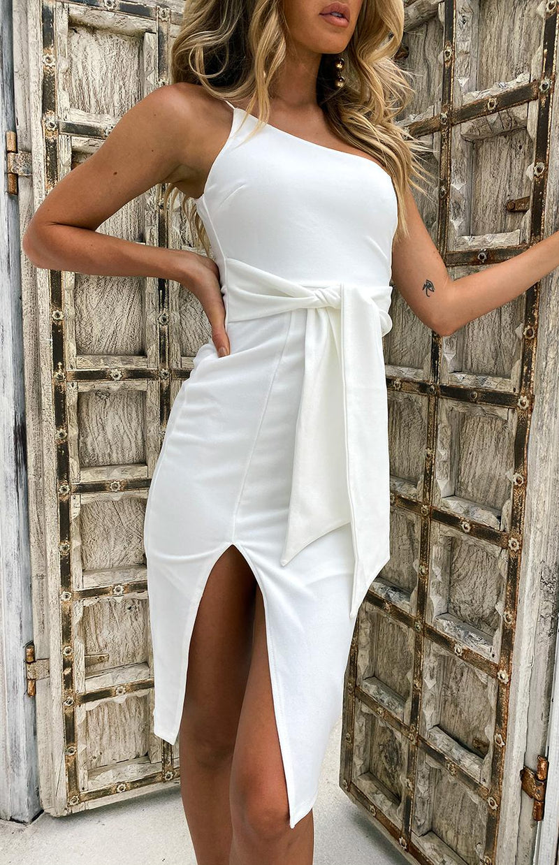 CHURCHILL DRESS - WHITE