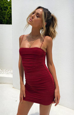 ANISTON DRESS - WINE