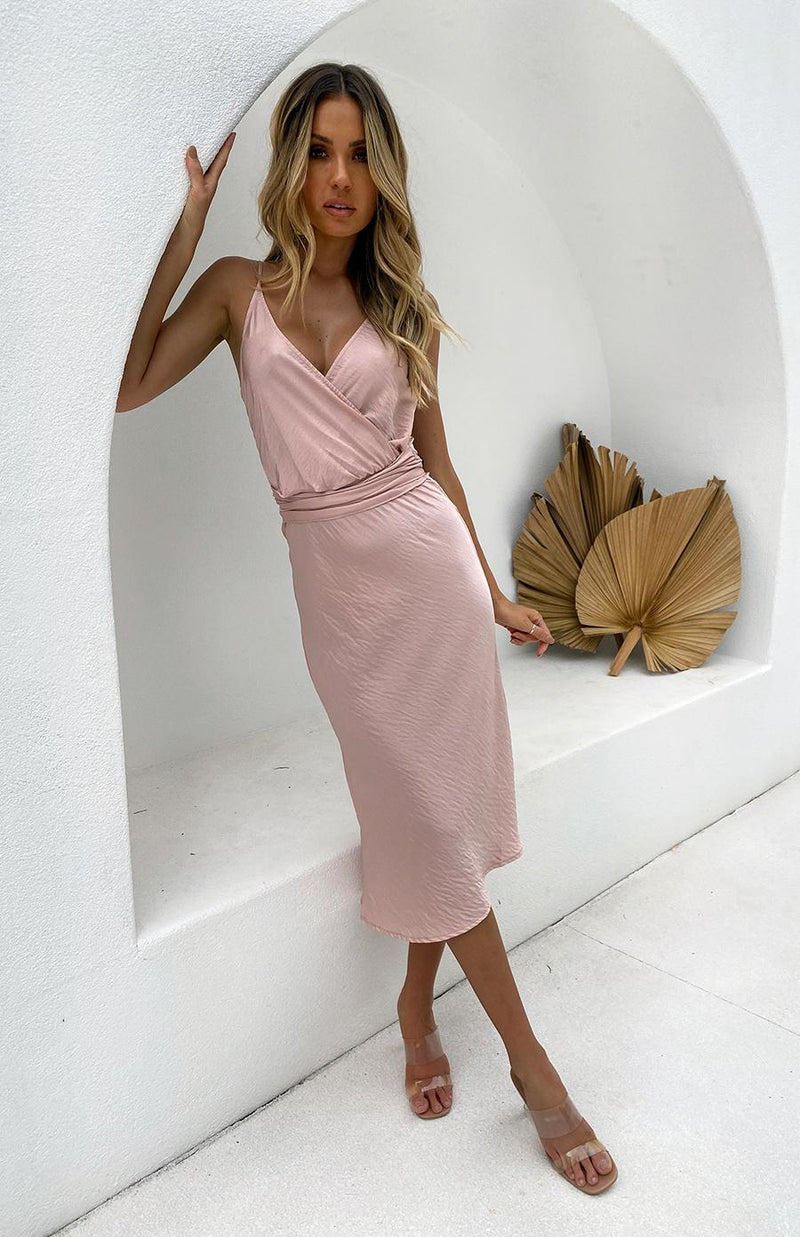 ACCOYA DRESS - BLUSH