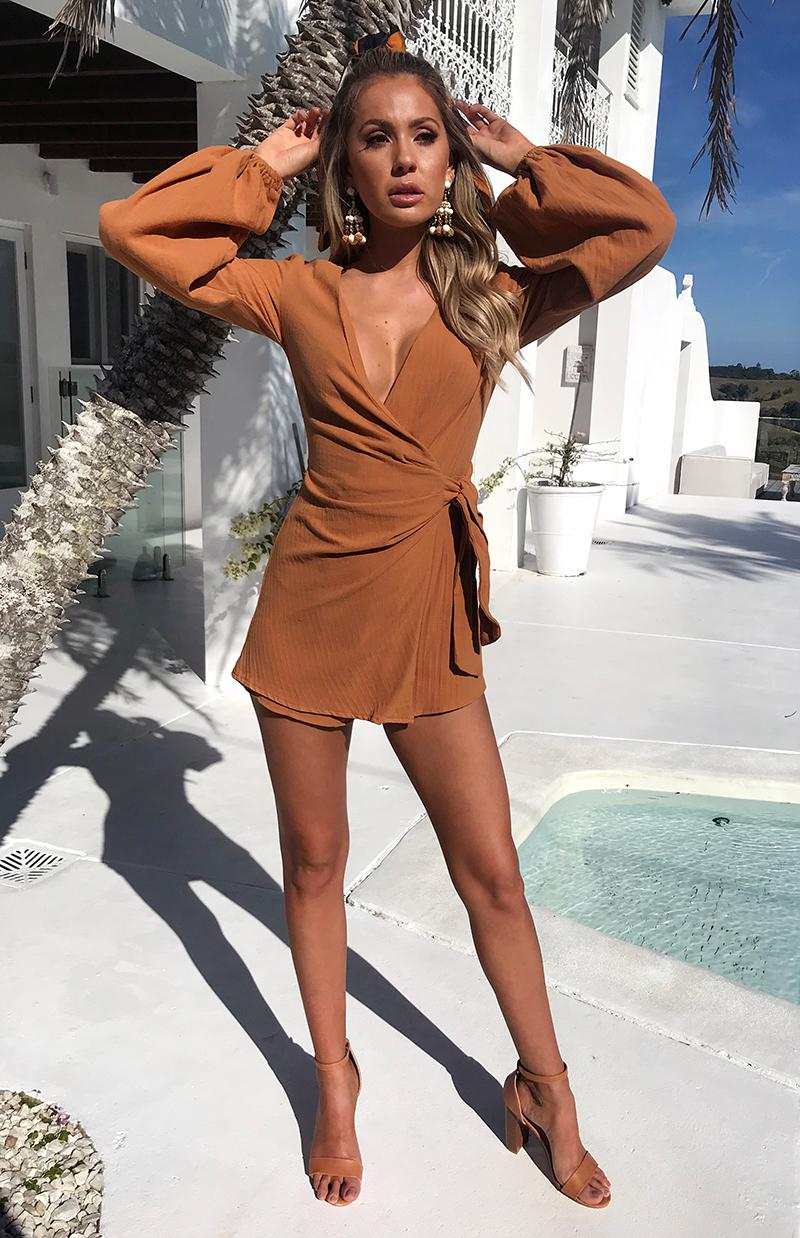 CHELSEA PLAYSUIT - CAMEL