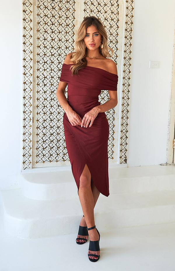 JAGGER DRESS - WINE