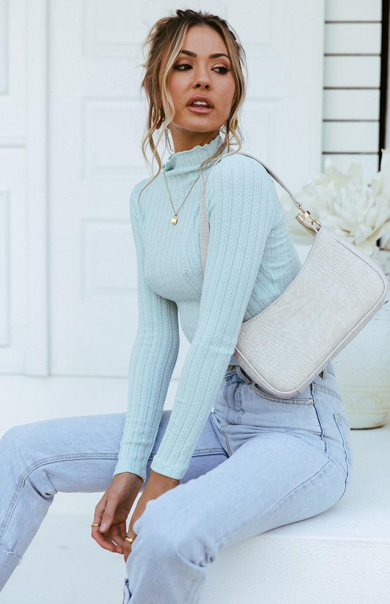 TANTRA KNIT TOP - BLUE