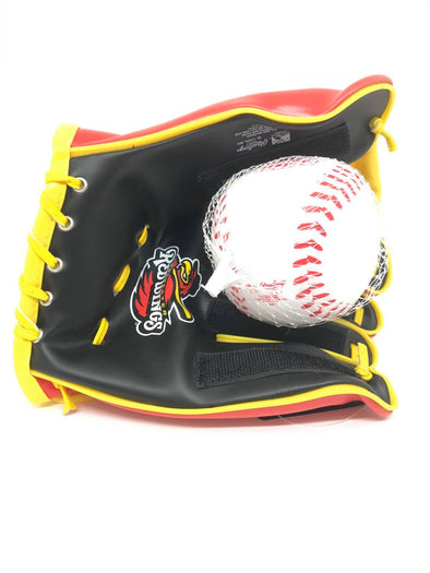 Rochester Red Wings Kids Softee Glove and Ball Set