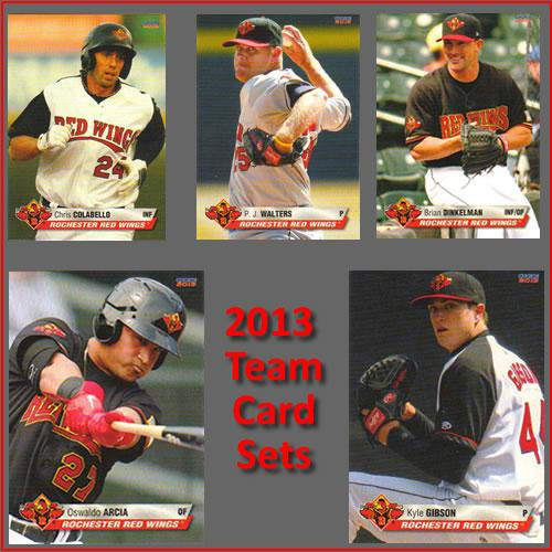 Rochester Red Wings 2013 Team Baseball Card Set