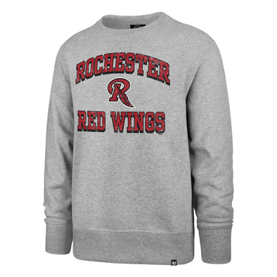 Rochester Red Wings Gray Crew with Feather R