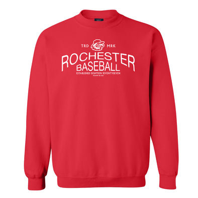 Rochester Red Wings Red Crew Neck Sweatshirt