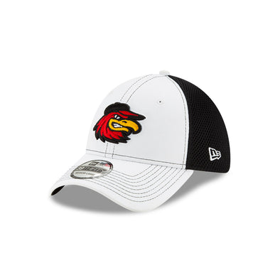 Rochester Red Wings White and Black Mesh Flex Fit Cap