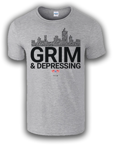 Grim and Depressing Gray Elements of Rochester Tee