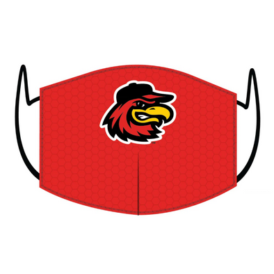 Rochester Red Wings Red Home Logo Face Mask