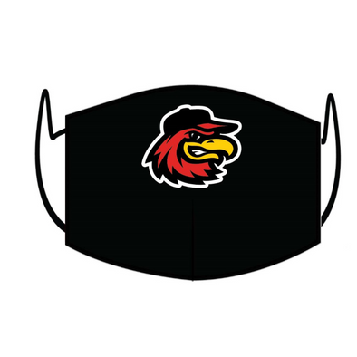 Rochester Red Wings Black Home Face Mask