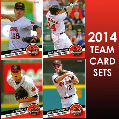 Rochester Red Wings 2014 Team Baseball Card Set