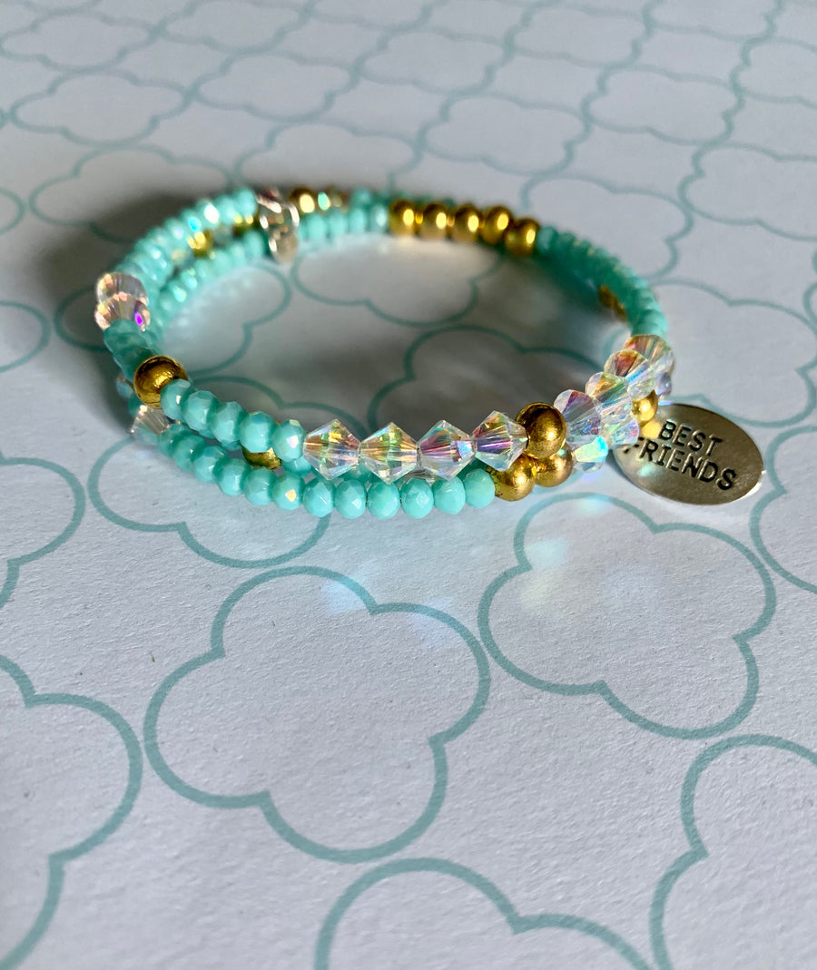 Best friend Bracelet with Swarovski Crystals
