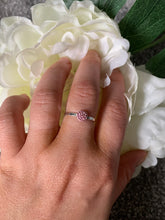 Load image into Gallery viewer, Tiny Pink Ring with Swarovski Crystals