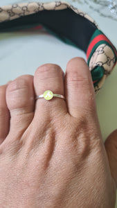 Tiny MOTHER'S Ring with an Initial