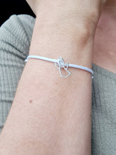 Load image into Gallery viewer, Angel Guardian Bracelets with Sterling Silver 925 Initial on a Cord