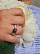 Load image into Gallery viewer, LUCKY BEADED BEETLE RING WITH SWAROVSKI CRYSTALS