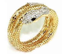 Load image into Gallery viewer, Vintage Rhinestone Curved Stretch Cuff Bracelets & Bangles Retro Snake Bracelet For Women